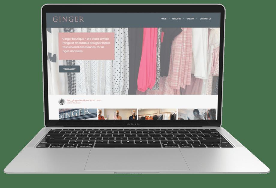 ginger boutique desktop