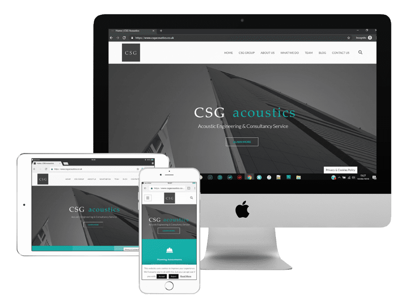csg acoustics web design project