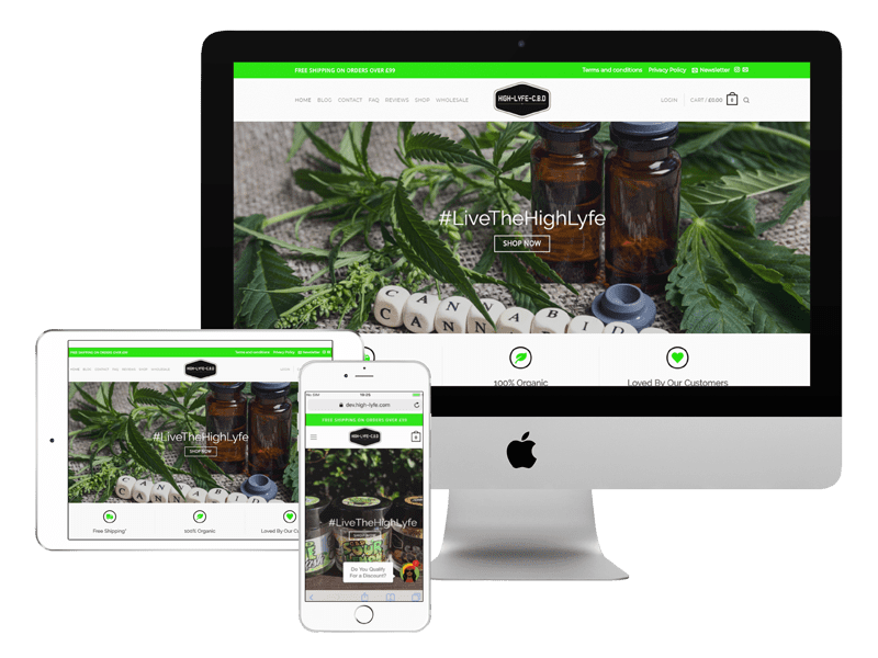 high-lyfe website design