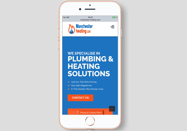 mancheste heating responsive web design