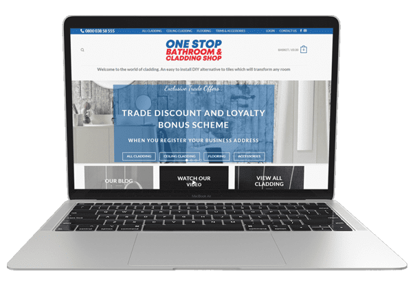 onestopcladding website design